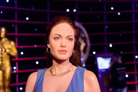 VIENNA, AUSTRIA - OCT 4, 2017: Angelina Jolie, American actress, Madame Tussauds wax museum in Vienna. 報道画像