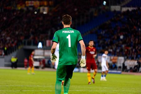 ROME - OCT 23, 2018:  Ilya Pomazun 1. AS Roma - CSKA Moscow. UEFA Champions league. Matchday 4. Stadio Olimpico