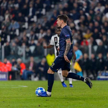 Turin - Nov 7, 2018: Ander Herrera 21. Juventus - Manchester United. UEFA Champions League. Matchday 4. Allianz stadium.