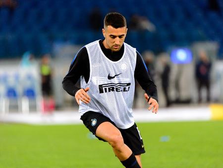 ROME - OCT 29, 2018: Matias Vecino 8 close up portrait. SS Lazio - FC Internazionale Milano. Serie A TIM. Stadio Olimpico.