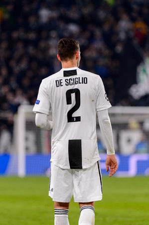 Turin - Nov 7, 2018:  Mattia De Sciglio 2. Juventus - Manchester United. UEFA Champions League. Matchday 4. Allianz stadium.