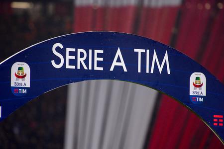 MILAN - NOV 11, 2018: AC Milan - Juventus. Italian Serie A TIM. Giuseppe Meazza Stadium