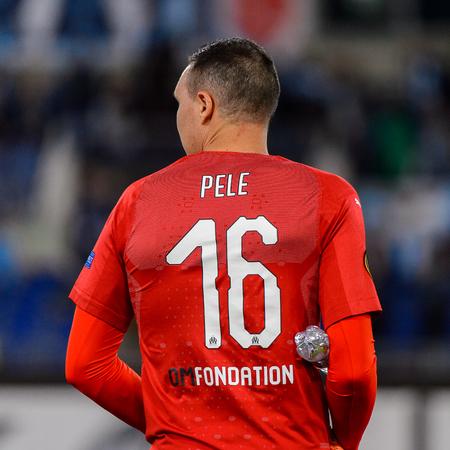 ROME - NOV 8, 2018: Yohann Pele 16. SS Lazio - Olympique Marseille. UEFA Europe League. Stadio Olimpico.