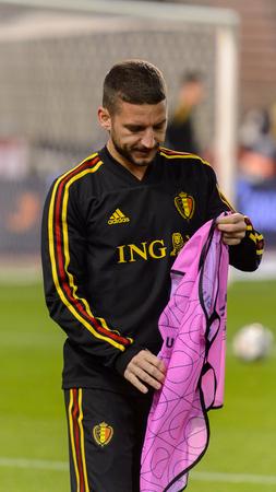 BRUSSELS - NOV 15, 2018: Dries Mertens 14. Belgium - Iceland. UEFA Nations League.