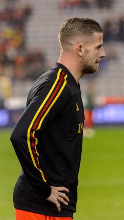 BRUSSELS - NOV 15, 2018: Toby Alderweireld 2 portrait. Belgium - Iceland. UEFA Nations League. Redakční