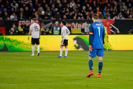 GELSENKIRCHEN - NOV 19, 2018: Manuel Neuer 1 in action. Germany - Netherlands. UEFA Nations League. Schalke 04 stadium. Redakční
