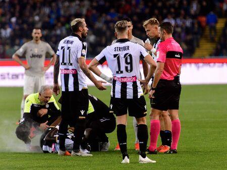 UDINE, ITALY - OCT 6, 2018: 19 Jens Stryger Larsen. Udinese - Juventus. Dacia Arena stadium. Serie A TIM Editorial