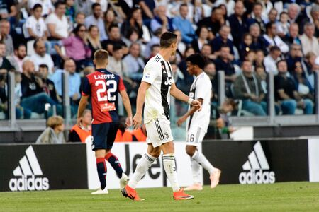 TURIN - OCT 20, 2018:  Cristiano Ronaldo. Juventus F.C. - Genoa C.F.C. Alliaz Stadium. Italian league Serie A. Editorial