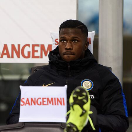MILAN - OCT 21, 2018: Keita Balde (Inter). Substitutuions. FC Internazionale - AC Milan. San Siro stadium. Italian league Serie A.