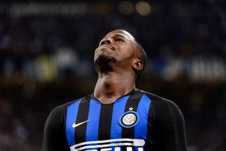 MILAN - OCT 21, 2018: Keita Balde (Inter) is deissapointed after no goal. FC Internazionale - AC Milan. San Siro stadium. Italian league Serie A. Editorial