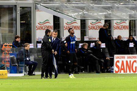 MILAN - OCT 21, 2018: Keita Balde (Inter) comes to the field. FC Internazionale - AC Milan. San Siro stadium. Italian league Serie A. Editorial