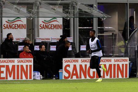 MILAN - OCT 21, 2018: Keita Balde (Inter). Substitutuions. FC Internazionale - AC Milan. San Siro stadium. Italian league Serie A. Editorial