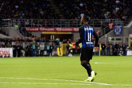 MILAN - OCT 21, 2018: Keita Balde (Inter). FC Internazionale - AC Milan. San Siro stadium. Italian league Serie A.