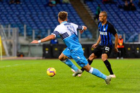 ROME - OCT 29, 2018: Ciro Immobile 17. SS Lazio - FC Internazionale Milano. Serie A TIM. Stadio Olimpico.