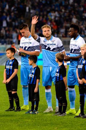 ROME - OCT 29, 2018: Ciro Immobile 17 close up. SS Lazio - FC Internazionale Milano. Serie A TIM. Stadio Olimpico.