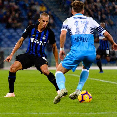 ROME - OCT 29, 2018: Ciro Immobile 17 in action. SS Lazio - FC Internazionale Milano. Serie A TIM. Stadio Olimpico.