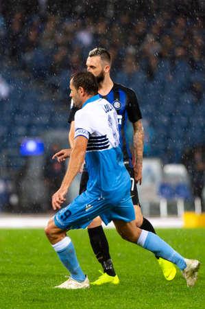 ROME - 29 OCT 2018 : Marcelo Brozovic 77. SS Lazio - FC Internazionale Milano. Serie A TIM. Stade olympique.