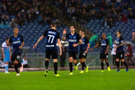 ROME - OCT 29, 2018: Sime Vrsaljko 2. SS Lazio - FC Internazionale Milano. Serie A TIM. Stadio Olimpico. Editorial