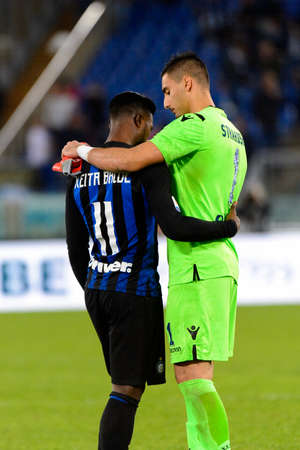 ROME - OCT 29, 2018: Keita Balde 14. SS Lazio - FC Internazionale Milano. Serie A TIM. Stadio Olimpico. Editorial