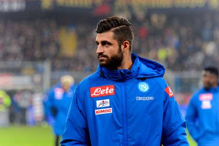 GENOVA - NOV 10, 2018:  Napoli Substitution players. C.F.C Genoa - SSC Napoli. Calcio Serie A TIM. Stadium Luigi Ferraris.