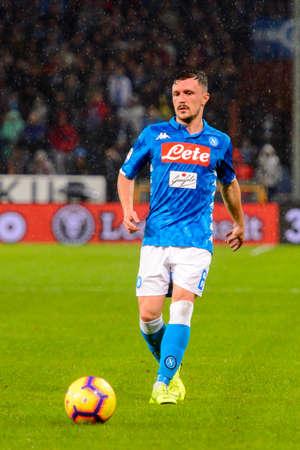 GENOVA - NOV 10, 2018:  Mario Rui 6. C.F.C Genoa - SSC Napoli. Calcio Serie A TIM. Stadium Luigi Ferraris. 新聞圖片