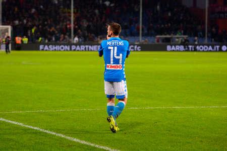 GENOVA - NOV 10, 2018:  Dries Mertens 14. C.F.C Genoa - SSC Napoli. Calcio Serie A TIM. Stadium Luigi Ferraris.