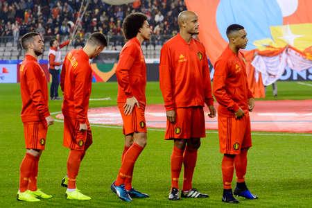 BRUSSELS - NOV 15, 2018: Vincent Kompany 4. Belgium - Iceland. UEFA Nations League.