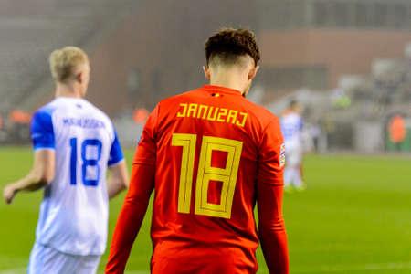 BRUSSELS - NOV 15, 2018: Adnan Januzaj 18. Belgium - Iceland. UEFA Nations League.