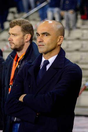 BRUSSELS - NOV 15, 2018: The coach. Belgium - Iceland. UEFA Nations League.
