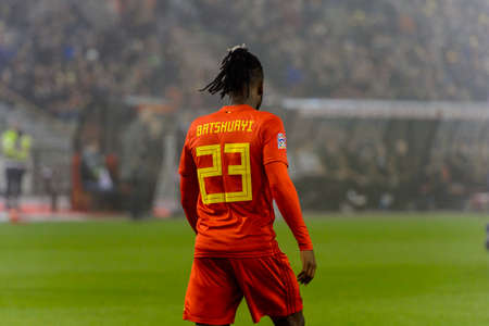 BRUSSELS - NOV 15, 2018: Michy Batshuayi 23.  Belgium - Iceland. UEFA Nations League.