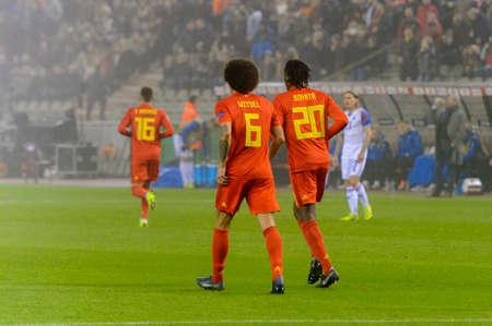 BRUSSELS - NOV 15, 2018: Axel Witsel 6. Belgium - Iceland. UEFA Nations League.