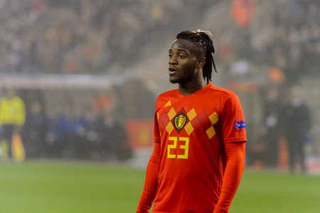 BRUSSELS - NOV 15, 2018: Michy Batshuayi 23 portrait.  Belgium - Iceland. UEFA Nations League.