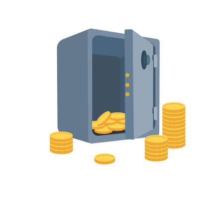 Bank deposit vector illustration in flat style.