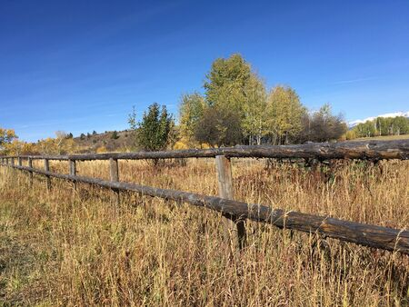 fence: Wooden Fence Going to Horizon Stock Photo