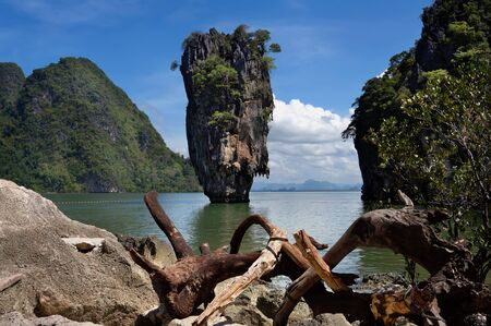 James Bond Island or Khao Tapu is a part of the Ao Phang Nga National Park, Phang Nga province in Thailand photo