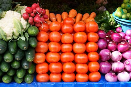 Vegetables for sale in Otavalo Market, Ecuador photo