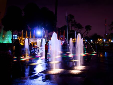 peru architecture: Dancing Fountain in Lima, Peru Editorial