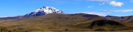 ecuador: A Panorama of Sincholagua volcano in Ecuador taken inside Cotopaxi National Park