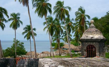Rampart, Fort San Fernando in Cartagena, Colombia Stock Photo - 12519491
