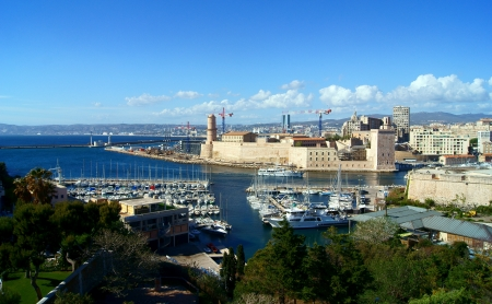 The Castle of Saint Jean in Marseille, France
