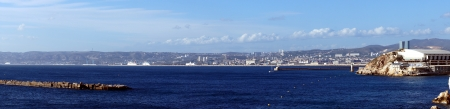 rich life: Panorama of the Entrance of the Marseille Harbor in France