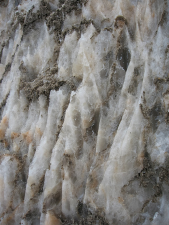 Natural salt crystals in nature, salt mountain, Cardona, Catalonia, Spain
