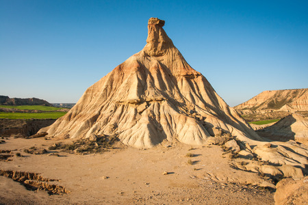 navarra: Unusual and unique landscape at Bardenas reales, Navarra, Spain