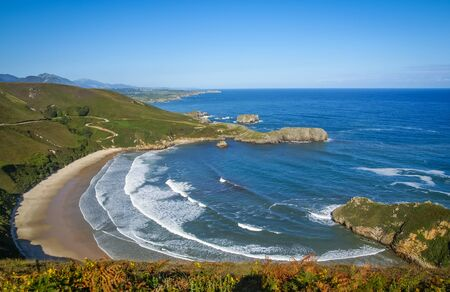 Image of scenic beach es of Torimbia and Toranda photo