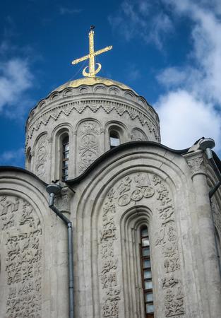 vladimir: Image of white stone church, Vladimir, Russia