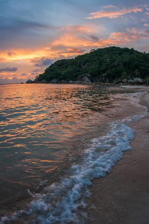 Amasing scenic Sunsets and sunrises at Cristal Bay, Samui, Thailand photo