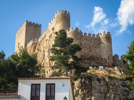 Image of Almansa castle, Castilla la Mancha, Spain Stock Photo