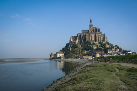 Monastery Le Mont Sent Michel, France Stock Photo