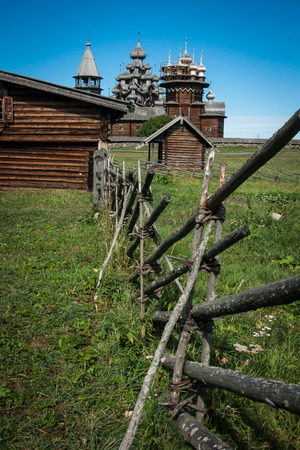 kizhi: Landscape at historical and Architectural Museum \Kizhi\.