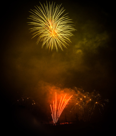 salut: Image of Fireworks in Patras, Peloponnese, Greece